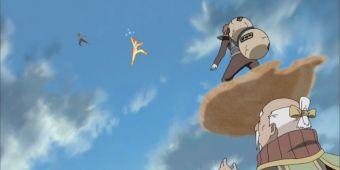 Оноки, Гаара и Наруто против Цучикаге Му