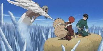 Наруто, Ли и Гаара против Кимимаро