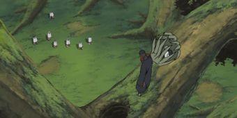 Наруто, Сакура, Киба, Шино и Ямато против Тоби