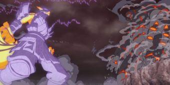 Наруто, Саске, Боруто и Каге против Киншики и Момошики