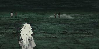 Какаши, Обито, Гаара и Минато против Мадары