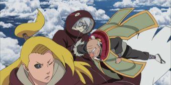 Ямато, Оноки, Куроцучи и Акацучи против Кабуто и Дейдары