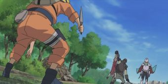 Наруто, Сакура и Шикамару против Темуджина и рыцарей