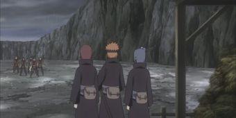 Нагато, Яхико и Конан против Кюске и его банды