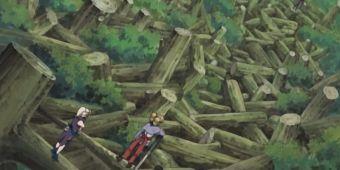 Темари, Ино и Шикамару против Куджаку