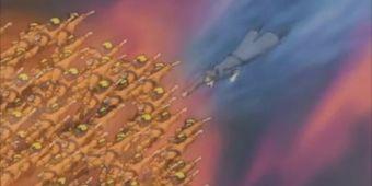 Наруто, Саске и Шибуки против захватчиков Водопада