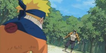 Наруто и Ирука против Мизуки - второй бой