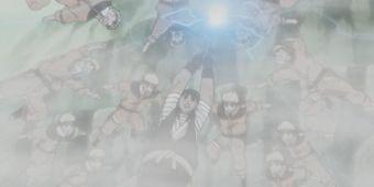 Наруто, Неджи, Ли и Тентен против Райги