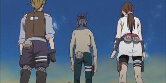 Сакура, Ино и Чоджи против Амено, Шишио и Коджи