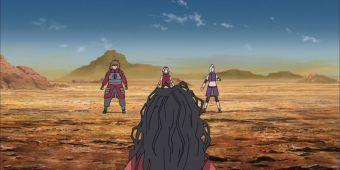 Сакура, Ино и Чоджи против Саи, Саны и Мамуши