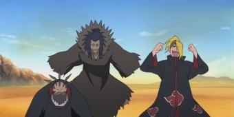 Сасори и Дейдара против Орочимару