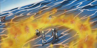 Огненный рубящий удар